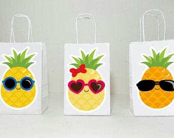 Pineapple Goody Bags, Luau Goody Bags, Hawaii Goody Bags, Tiki Goody Bags, Girls Luau