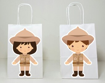 Safari Goody Bags, Jungle Goody Bags, Zookeeper Goody Bags, Safari Birthday, Safari Party