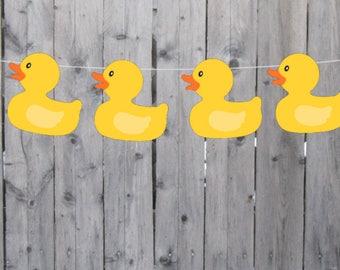 Rubber Duck Banner, Rubber Duck Garland, Rubber Duck Decorations, Rubber Duck Baby Shower, Rubber Duck Photo Prop, Rubber Duck Birthday