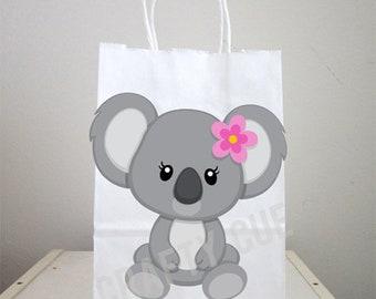 Koala peek-a-boo treat bags