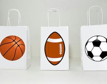 NEW 25 Sports Mix Football Soccer Basketball Baseball Cello Cellophane Bags