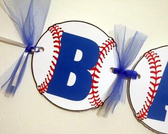 Baseball Banner - Baseball Baby Shower Banner - Baseball Birthday Banner