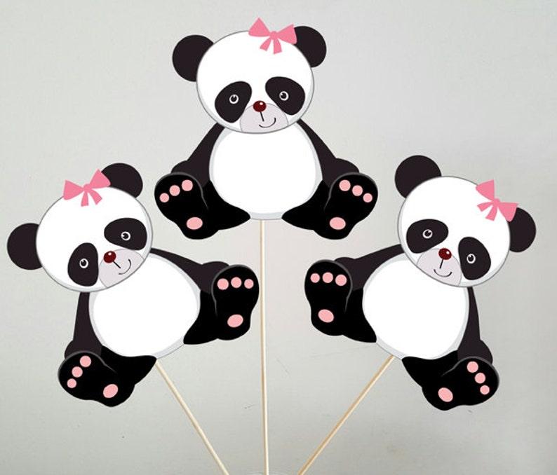 Centros De Mesa De Oso Panda Etsy