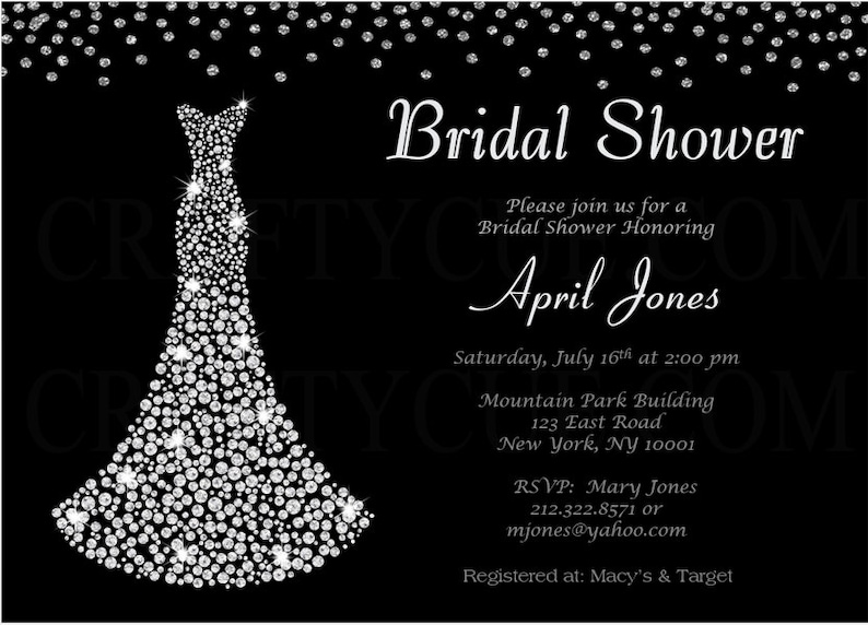 4b8c19add5b Bridal Shower Invitation Diamond Bridal Shower Invitation