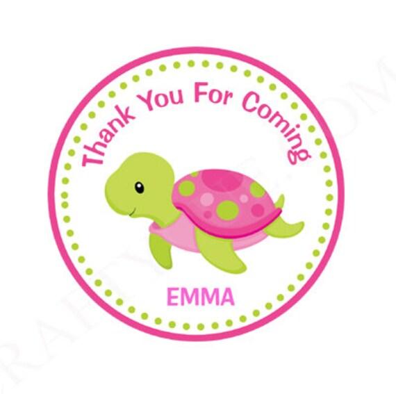 Favor de tortuga etiquetas favores de la tortuga tortuga | Etsy