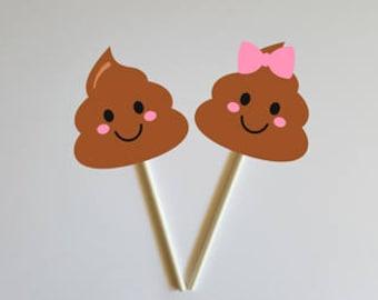 POOP Cupcake Toppers