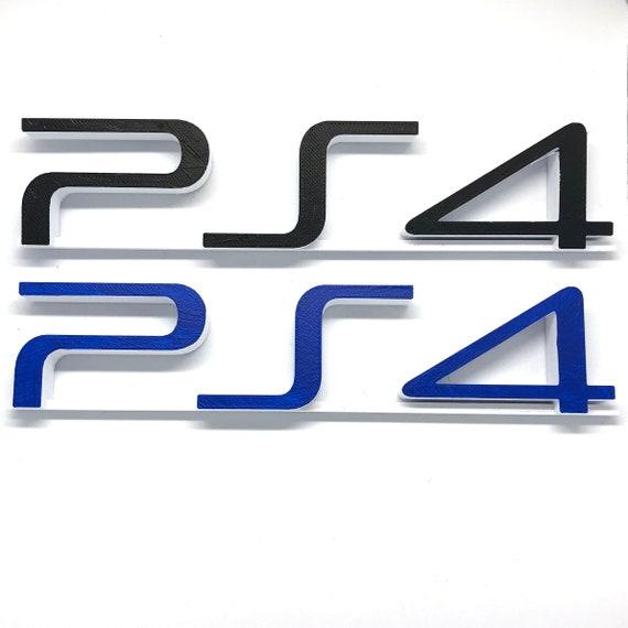 PlayStation 4 PS4 Video Game Shelf Display - Black or Dark Blue - Custom