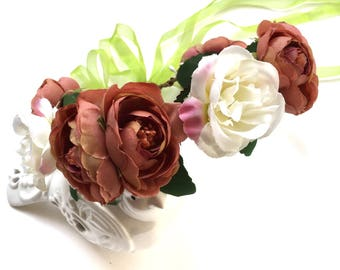 Beautiful! Baby Girls , Toddler girls , Big Girls , Adult Flower Crown , Flower Wreath , Photography pro, Decorative flower wreath