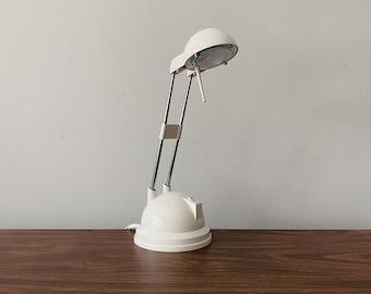 Gloss White Vintage IKEA Espressivo Table Lamp // Vintage Post Modern 1990s Table Desk Lamp