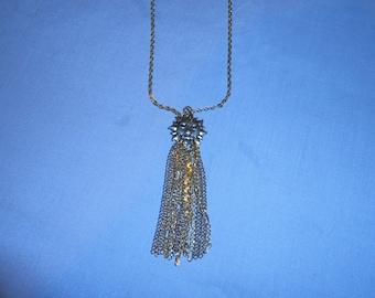 Golden Sun Lariat Necklace