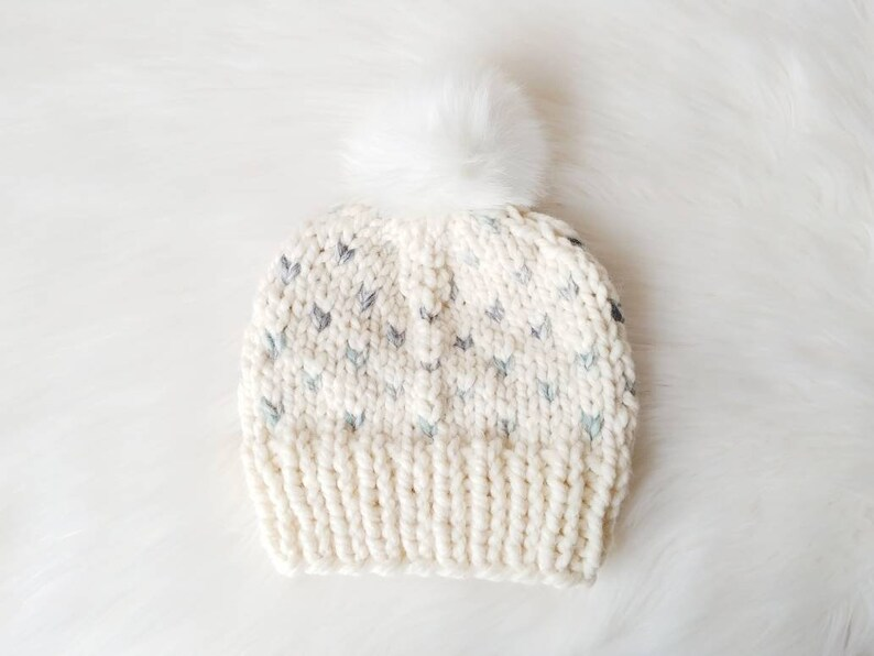 85e30081c03 Chunky Knit Toddler Child Happy Heart Hat    Kid Winter Beanie