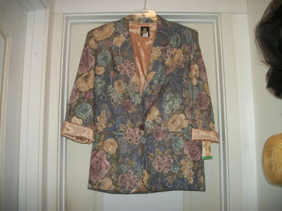 Vintage 1980s Old New Stock ROMANTIC FLORALS JACKE