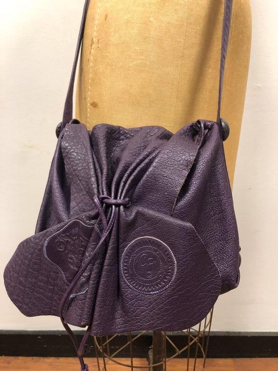 Fabulous Vintage 1980s CARLOS FALCHI Purple Butter