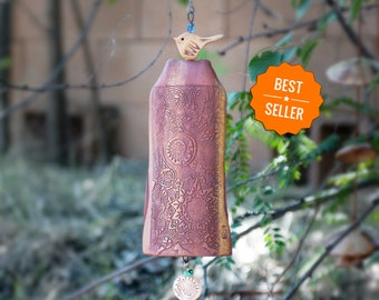 Top Selling Birthday Gifts For Her Ceramic Wind Chimes Most Sold Items Handmade Best Seller 2018 Gift Garden Art Decor Copper Windchimes