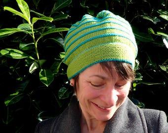 Slouch hat knitting pattern, slouch hat pattern, knitted hat patterns for women, pdf knitting pattern, knitting patterns for women, knit hat