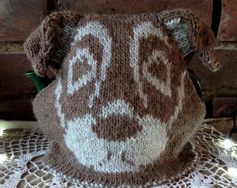 Tea cosy knitting pattern, pdf, knitting patterns, knitting, tea cosy, dog, jack russell, knit, hand knitted, patterns, gifts for knitters