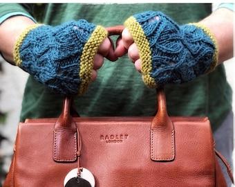 Leaf Mitt Knitting pattern, pdf download, instant download, mittens knitting pattern, knitting patterns for women, glove pattern, handknit