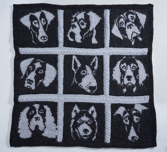 Knitting Charts Dog Knitting Pattern Dog Portrait Intarsia Etsy