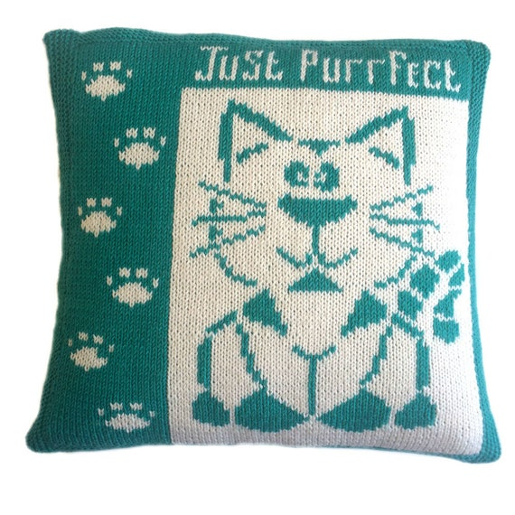 Sydney Knitted Cushion Cover Pattern Pdf Cushion Knitting Etsy