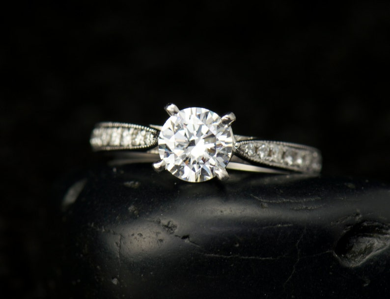 Jewelry & Watches Humor 2.00 Tcw 14k Gold Over Bridal Ring Set Oval Moissanite Ring Engagement Ring