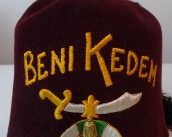 Vintage BENI KEDEN Fez Hat 202094a3947b