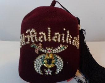 Al Malaikah Shriners Vintage Fez 971fd2ff496e