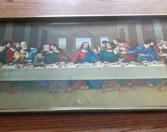 Framed Last Supper Etsy