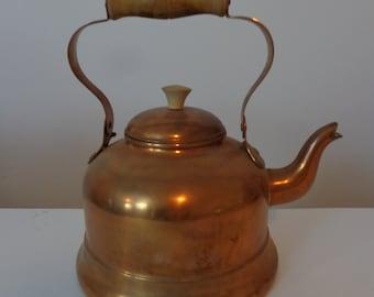 Copper Kettle Dovetail Seams Swedish Imigrant/'s Kettle Made in Sweden Antique Adolf Andersson Ekelundsgatan 14 Copper Teapot