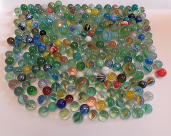 """MARBLE BULK LOT 2 POUNDS OF 9//16/"""" SOLID GREEN MARBLE KING MARBLES FREE SHIPPING"""