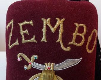 Vintage Zembo Fez Hat 8af38d214a04