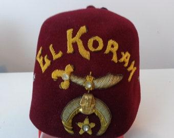 Vintage El Koram Fez hat 224c81a74f26