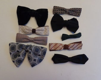 81163898d5cf Vintage Assorted Bow Tie Collection, Mid Century Bow Ties Men, Vintage Bow  Tie, Black Bow Tie Mens, Green Bow Tie Mens,Assorted Bow Ties Men