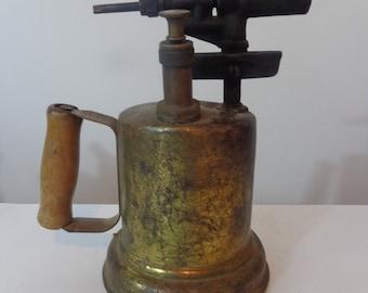 Vintage Brass Blow Torch, Blow Torch Vintage, Old Brass Blow Torch, Shop Decor, Vintage Man Cave Blow Torch, Blow Torch Etsy, Brass Decor