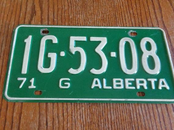 Old License Plate Vintage License Plate Alberta License Plate Vintage License Plate Etsy Etsy License Plate 1971 Alberta License Plate