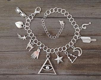 Gravity Falls Inspired Charm Bracelet