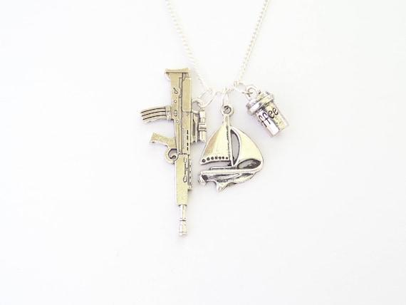 Silver Plated Charm Bracelet With Charms NCIS Gibbs Mcgee Ziva Abby Dinozzo