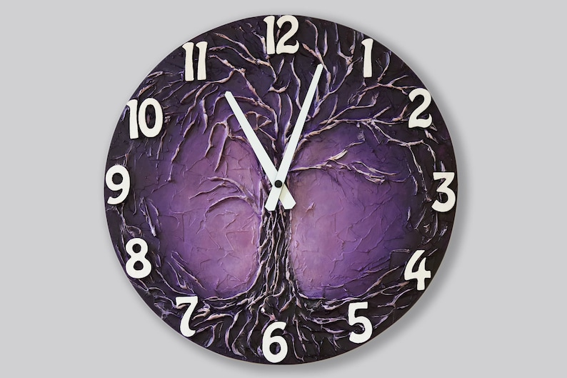 8689ae17a4113 Life of tree Home decor WALL CLOCK Life of Tree painting | Etsy