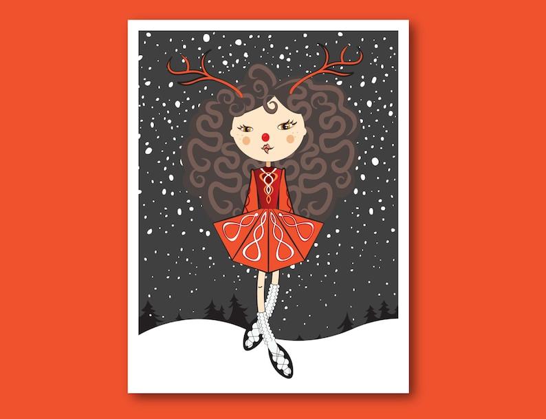 "Graphic Art Poster Irish Dancers /""The Reel/"" Wall Art"