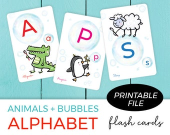 Printable Flash Cards / Flash cards for Kids / ABC FlashCards / Alphabet / Printable Alphabet / Printable & instant download
