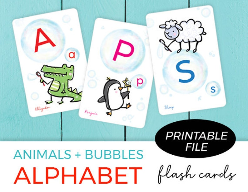 Printable Flash Cards / Flash cards for Kids / ABC FlashCards image 0
