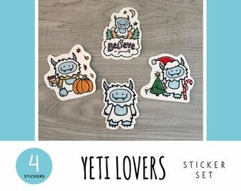 Yeti Lovers Sticker Set / Vinyl Stickers / Laptop Stickers / Water Bottle Stickers / Vinyl Decals / Journal Stickers