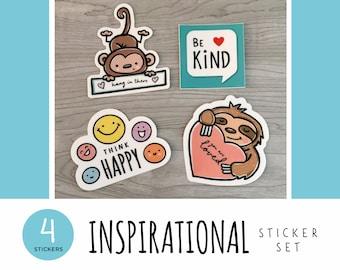 Inspirational Sticker Set / Vinyl Stickers / Laptop Stickers / Water Bottle Stickers / Vinyl Decals / Journal Stickers