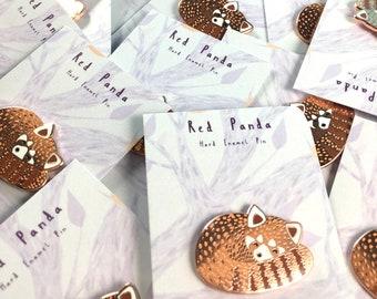 Red Panda Enamel Pin SECONDS Sale - Further Reduced - Animal Pin, Hard Enamel Pin, Red Panda Brooch, Lapel Pin, Children's Gift, Seconds Pin