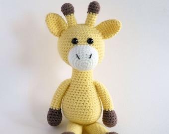 Amigurumi Giraffe, Crochet Toy Giraffe, Plush Giraffe, Giraffe Softie, Hand Made Toy, Australian Made.