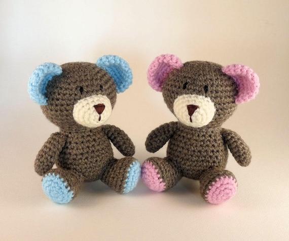 Amigurumi Bär Teddy Bären Rosa Baby Bär Mini Amigurumi Etsy