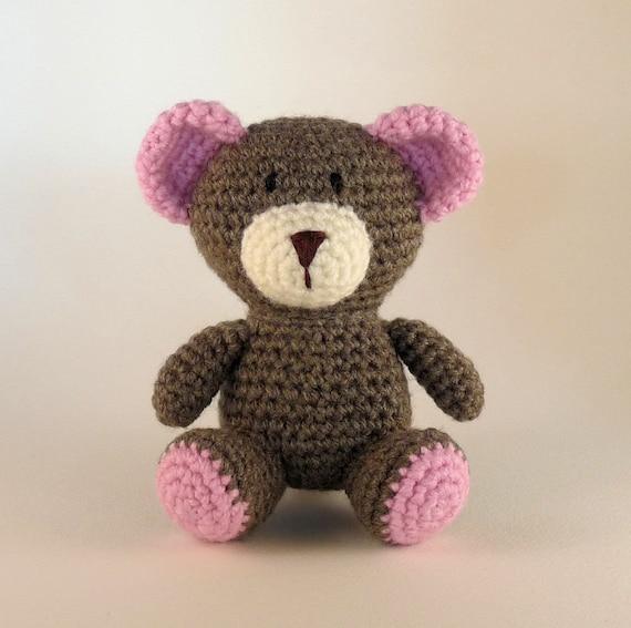 Orso Amigurumi, Orso Teddy Blu, Orso Rosa, Mini Amigurumi, Giocattolo All'uncinetto, Giocattolo Sicuro Bambino, Made Australiano
