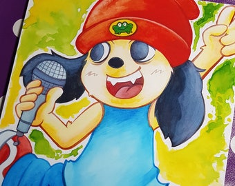 Parappa the Rapper inspired A4 print
