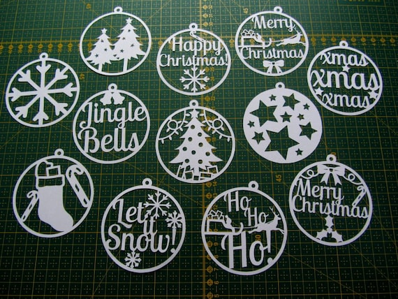 items similar to christmas paper cut templates set of 12