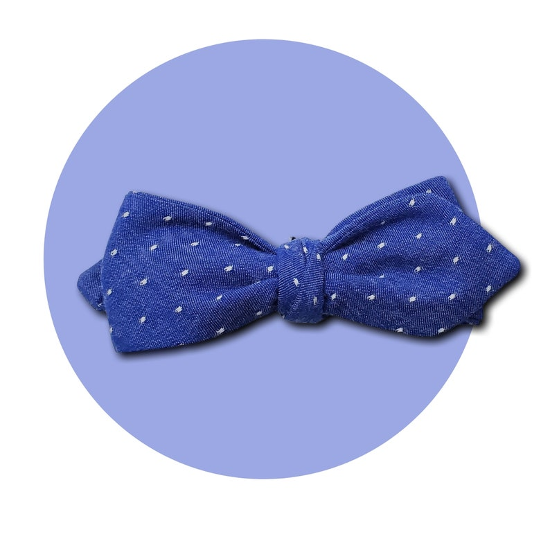 Rich & Royal Men's Self-Tie Pointed Bow Tie  Royal Blue image 0