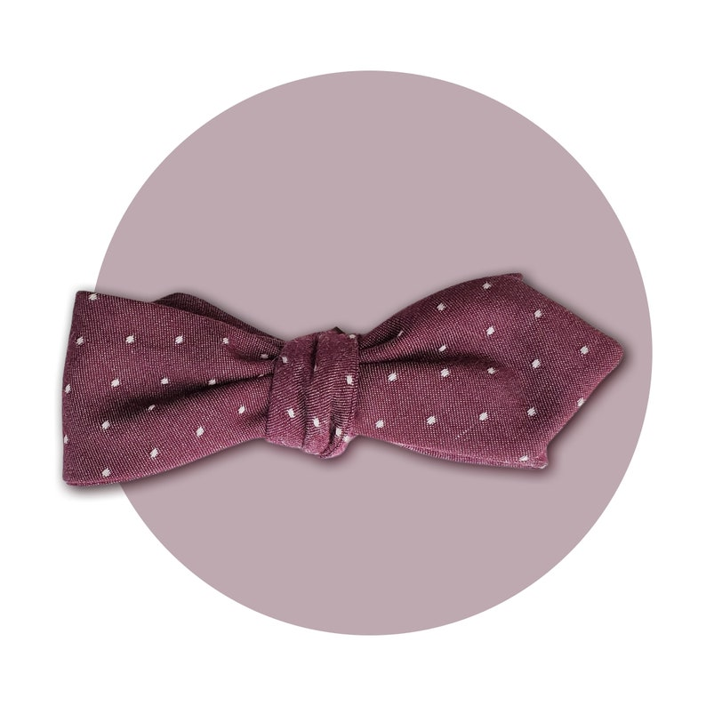 Eleventh Doctor Men's Self-Tie Pointed Bow Tie  Mauve and image 0